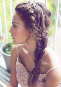 Beautiful side braid.