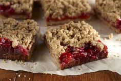 Driscoll's Strawberry Whole Grain Crumble Bars www.driscolls.com use gluten free flours and ingredients!