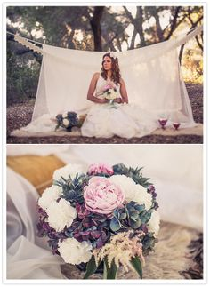 romantic pale wedding bouquet  http://ryanandheidi.com/index.html  via 100 layer cake