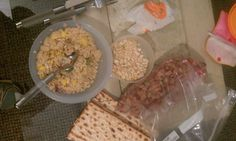 Mayim's kosher for Passover meal on set of The Big Bang Theory.