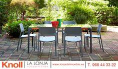 Composición de mesa y sillas, diseños de muebles de jardín de primeras marcas como Knoll Inc. en La Lonja Home & Kitchen