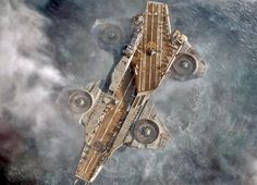 ... the s h i e l d helicarrier in the hot marvel movie the avengers