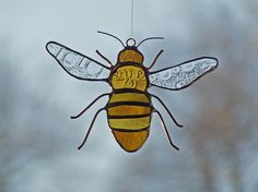 reclaimed glass honeybee