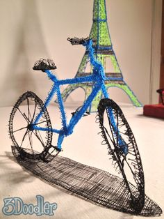 Can't WAIT to get my 3Doodler. If you haven't seen this, this is a Kickstarter project. It's a 3D PRINTING PEN! The picture here is the newest creation...a bike made using the 3Doodler! WOW! There are still open pledges to get one starting at $75.