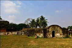 Speelwijk Fortress, Located in Banten. The fortress was built to signifies the Banten Kingdom's collapse and the beginning of the Verenigde Oost Indische Compagnie (VOC).  Photographed by Setiadi Darmawan (2011).