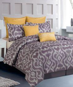Look at this #zulilyfind! Gray Keasby Oversize Comforter Set by Duck River Textile #zulilyfinds
