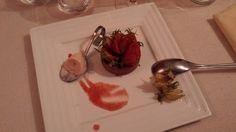 """Dessert à la fraise au Lion d'Or d'Amboise - Carnet de voyage """"Week end à Amboise entre amis"""""""