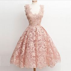 Vintage prom dress,2016 Pink Homecoming Dresses Vintage Short Scoop Neck Full Lace Special Occasions Gowns Knee Length Junior Prom Dress Short Tight Homecoming Dresses