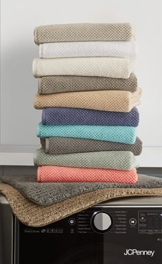 JCPenney Home™ Quick Dri Textured Solid Bath Towel Program and Quick Dri  Ribbed Bath Rug Program - JCPenney 46e65daf9