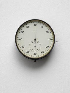 minimalistic modern clock • via Kris Martin • #industrial #mod