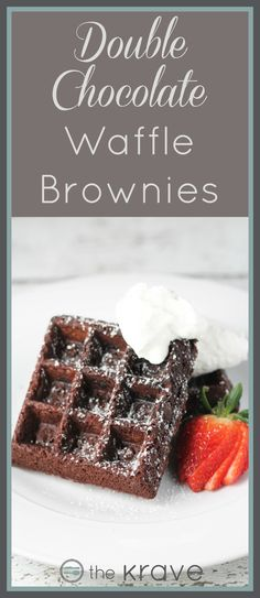 Double Chocolate Waffle Brownies by TheKrave.com