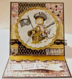 Geburtstagskarte für einen Piraten!
