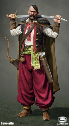 ArtStation - Cossack Warrior render, Georgi Georgiev