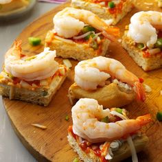 Shrimp Lover Squares Recipe -At our house, these delicious shrimp squares are a must during family movie and game nights. —Ardyce Piehl, Poynette, Wisconsin