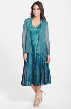 Komarov Charmeuse A-Line Dress & Chiffon Jacket available at #Nordstrom