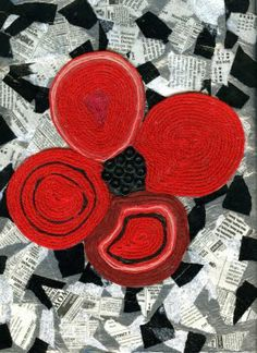 Poppies for remembrance day by that artist woman: Remembrance Day Huichol Yarn Painting Remembrance Day Activities, Remembrance Day Poppy, Fall Art Projects, School Art Projects, School Ideas, Kid Projects, Ww1 Art, Poppy Craft, Yarn Painting