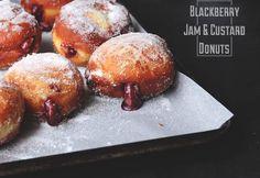 Blackberry Jam  and Custard Donuts | The Sugar Hit