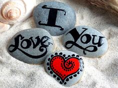 Painted Rocks / I Love You