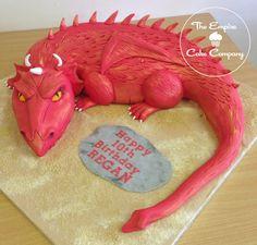 3-D Dragon Cake