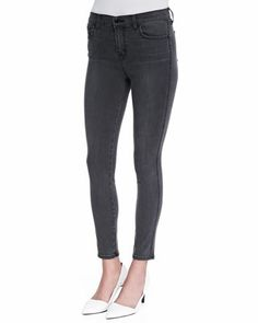 Bree Skinny Cropped Jeans, Night Bird Black by J Brand Jeans at Neiman Marcus.