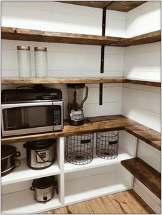 Bauernhaus Pantry Renovierung Farmhouse Pantry renovation - Own Kitchen Pantry Small Cupboard, Cupboard Ideas, Kitchen Pantry Design, Kitchen Pantries, Kitchen Cabinets, Kitchen Storage, 10x10 Kitchen, Kitchen Pantry Storage, Farm House Kitchen Ideas