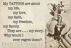 New Skin Art Tattoo Quotes Ideas Time Tattoos, Body Art Tattoos, New Tattoos, Tatoos, Crazy Tattoos, Tattoo Memes, Tattoo Quotes, Quotes About Tattoos, Tattoo Life