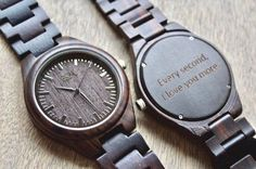 Personalizzato di legno Mens Watch con incisione