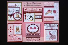 January 2009 DIY Artboard of Cards & Stamps from GreatImpressionsStamps.com