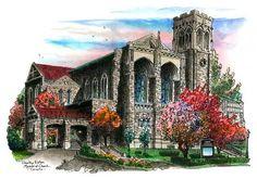 Timothy Eaton Church, Toronto by Canadian Artist and Illustrator David – David Crighton Art