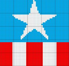Captain America Inspired Uniform 50 x 50 C2C Graph Graphgan