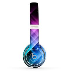The Neon Glow Paint Skin Set for the Beats by Dre Solo 2 Wireless Headphones