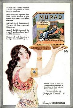 Vintage Advert for Murad Turkish Cigarettes - 1921 by CharmaineZoe, via Flickr