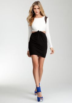 Make a Statement...  Black & White 'Color Blocked' Dress with Cutouts  On my 'Need to Have This' List!