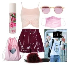 """""""Kawaii Jin"""" by flaviaazevedo2000 ❤ liked on Polyvore featuring Topshop, Valentino, Cape Robbin, Forever 21, Sheriff&Cherry, Pink, kawaii, bts, jin and bias"""