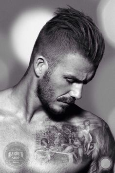 Awesome undercut hairstyle -david beckham