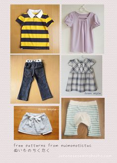 Free Japanese Sewing Patterns – Nuimonotictac