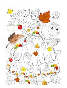 Universul piticilor: ZANA TOAMNA imagini de colorat / fise de colorat cu Zana TOAMNA Easy Fall Crafts, Halloween Crafts For Kids, Fun Crafts For Kids, Arts And Crafts Projects, Preschool Crafts, Fall Halloween, Art For Kids, Easy Doodle Art, Doodle Art Drawing