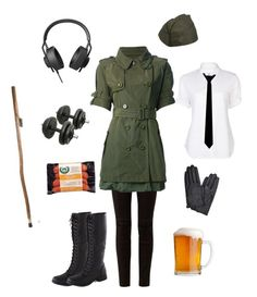 """""""Nyotalia Germany-Hetalia"""" by conquistadorofsorts ❤ liked on Polyvore featuring Haider Ackermann, AIAIAI, Moncler, Accessorize and Yohji Yamamoto + Noir"""