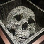 Lazercut out of 1 dollar bills