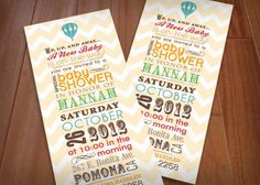 HOT AIR BALLOON Baby Shower Printable by PrintasticDesign on Etsy, $15.00