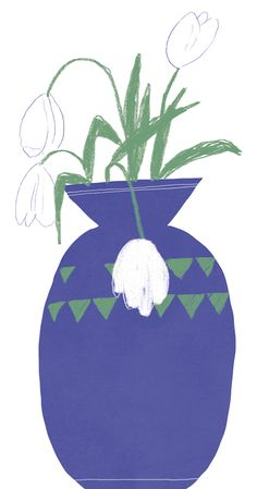 hallo heute Flower Vases, Print Patterns, Drawings, Prints, Graphic Design, Flowers, Bud Vases, Vase, Sketches