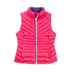 New FREE COUNTRY girls Down VEST - HOT PINK - Youth Size 14-16 - Large L