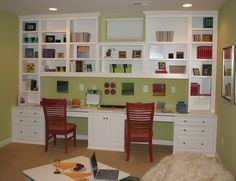 Built In Cabinets - traditional - home office - dc metro - Contemporary Woodcrafts, Inc.