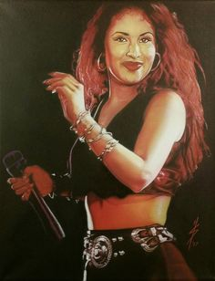 Original painting of Selena Quintanilla on 11x14 by SerratosArt