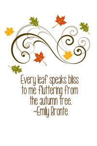 Fall Free Printables October Edition..