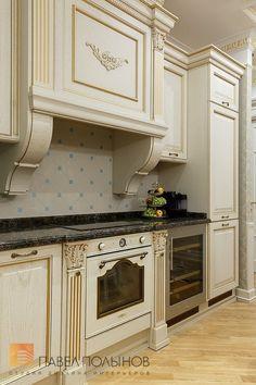 """Фото ремонт кухни из проекта «Дизайн интерьера и отделка квартиры в Элитном доме """"Победы, 5"""", классический стиль, 86 кв.м.»"""