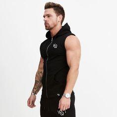 e171f3ff7 NANSHA VQ Mens Cotton Hoodie Sweatshirts fitness clothes bodybuilding tank  top men Sleeveless Trend Tees Shirt Casual golds