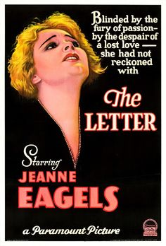 The Letter (1929) starring Jeanne Eagels