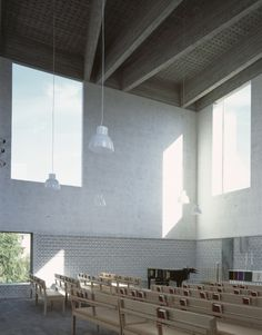 rsta Kyrka by Johan Celsing Arkitekter in Sweden. Swedish refined and simple modernism at its best Monumental Architecture, Brick Architecture, Religious Architecture, Architecture Details, Interior Architecture, Lobby Interior, Church Interior, Modern Church, Church Design