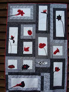 black and white quilt 003 by jackiesewingstudio, via Flickr